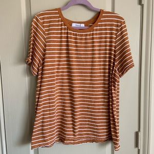 Plus striped tee